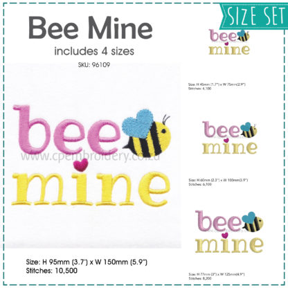 Bee mine bee bug heart wing blue wing bug be mine words